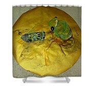 Cicada On Gold Shower Curtain