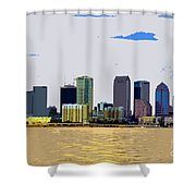 Cigar City Skyline Shower Curtain