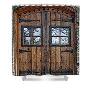 Cigar Warehouse Doors Shower Curtain