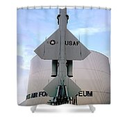 Cim-10a Bomarc Missile At The Air Force Museum Dayton Ohio Shower Curtain