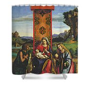 Cima Da Conegliano The Madonna And Child With St John The Baptist And Mary Magdalen Shower Curtain