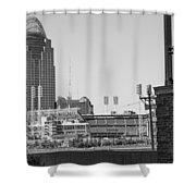 Cincinnati And Building  Shower Curtain