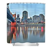 Cincinnati At Dusk Shower Curtain