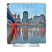 Cincinnati At Ground Level Shower Curtain