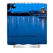 Cincinnati Belle Suspension Bridge Shower Curtain