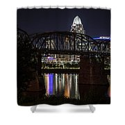 Cincinnati Bridge At Night  Shower Curtain