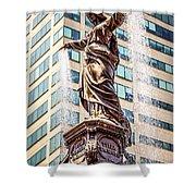 Cincinnati Fountain Genius Of Water By Tyler Davidson  Shower Curtain by Paul Velgos