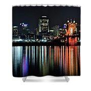 Cincinnati Lights The Ohio River Shower Curtain