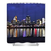 Cincinnati Night Lights Shower Curtain