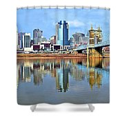 Cincinnati Ohio Times Two Shower Curtain