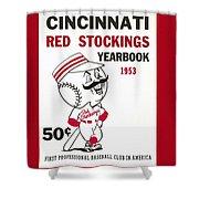 Cincinnati  Reds 1953 Yearbook Shower Curtain