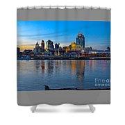 Cincinnati Skyline Across The Ohio River Shower Curtain