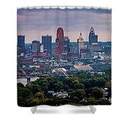 Cincinnati Skyline Shower Curtain