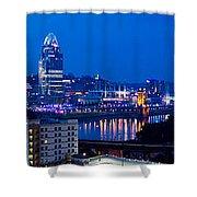 Cincinnati Skyline At Night Shower Curtain
