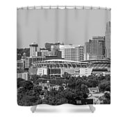 Cincinnati Skyline From Above  Shower Curtain
