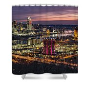 Cincinnati Sunrise Shower Curtain