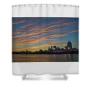 Cincinnati Sunset Shower Curtain