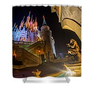 Cinderella And Her Castle Shower Curtain