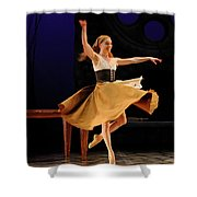 Cinderella At Home In Rags En Pointe With One Shoe After The Bal Shower Curtain