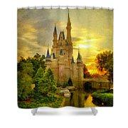 Cinderella Castle - Monet Style Shower Curtain
