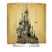 Cinderella Castle Patent Shower Curtain