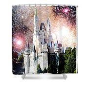 Cinderella's Castle, Fantasy Night Sky, Walt Disney World Shower Curtain