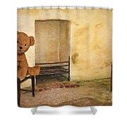 Cinders Bear Shower Curtain