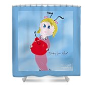 Cindy Lou Who Illustration  Shower Curtain