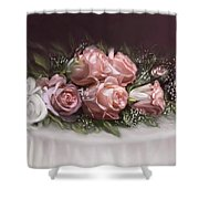 Spray Of  Roses Shower Curtain