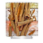 Cinnamon Bark Shower Curtain
