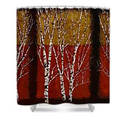 Cinque Betulle Shower Curtain by Guido Borelli