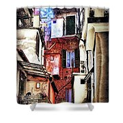 Cinque Terre All'aperto Shower Curtain