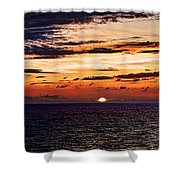 Cinque Terre - Sunset From Manarola - Panorama Shower Curtain