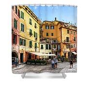 Cinque Terre - Vernazza Main Street Shower Curtain