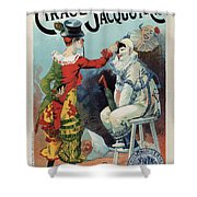 Cirage Jacquot And Cie - Vintage French Advertising Poster Shower Curtain