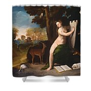 Circe And Her Lovers In A Landscape 1516 Shower Curtain