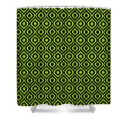 Circle And Oval Ikat In Black N09-p0100 Shower Curtain