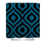 Circle And Oval Ikat In Black T02-p0100 Shower Curtain