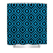 Circle And Oval Ikat In Black T05-p0100 Shower Curtain