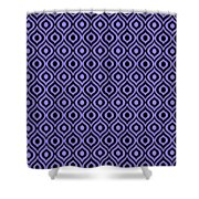 Circle And Oval Ikat In Black T09-p0100 Shower Curtain