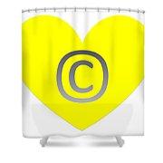 Circle C Yellow Shower Curtain