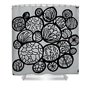 Circle Doodle Shower Curtain