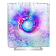 Circle Eye  Shower Curtain by Setsiri Silapasuwanchai