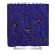 Circle Flowers Shower Curtain