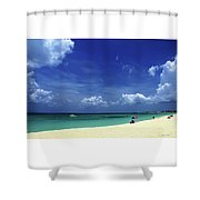 Circle Of Clouds On Grand Cayman Shower Curtain