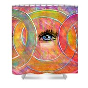 Circle Of Eyes Shower Curtain