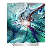 Circle Of Light Shower Curtain