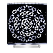 Circle Of Stars And Flowers Shower Curtain
