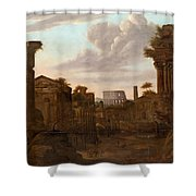 Circle Of View Over Rome Shower Curtain