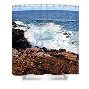 Circle Of Waves  Shower Curtain